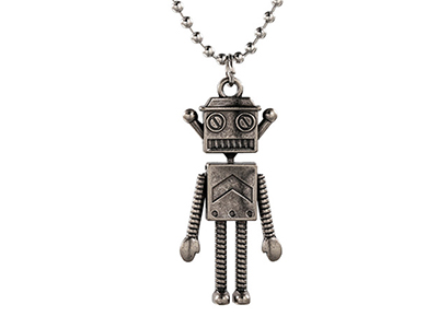 SSN0101SA Vintage Moveable Robert Stainless Steel Necklace