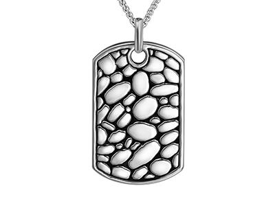 SSP0044R Cobblestone Pattern Necklace