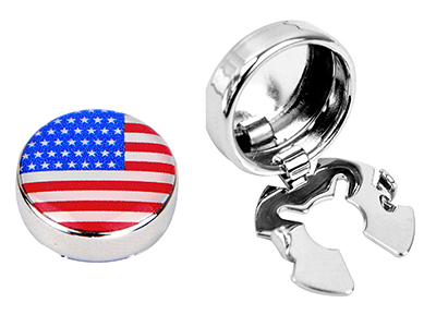 BC50-12R 15mm American Flag Button Covers