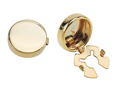BC50-9G Gold Blank Button Covers